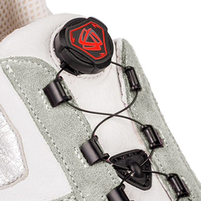 rotori avvolgicavo per calzature fashion, safety e sportive dial lacing system for fashion sport and safety shoes